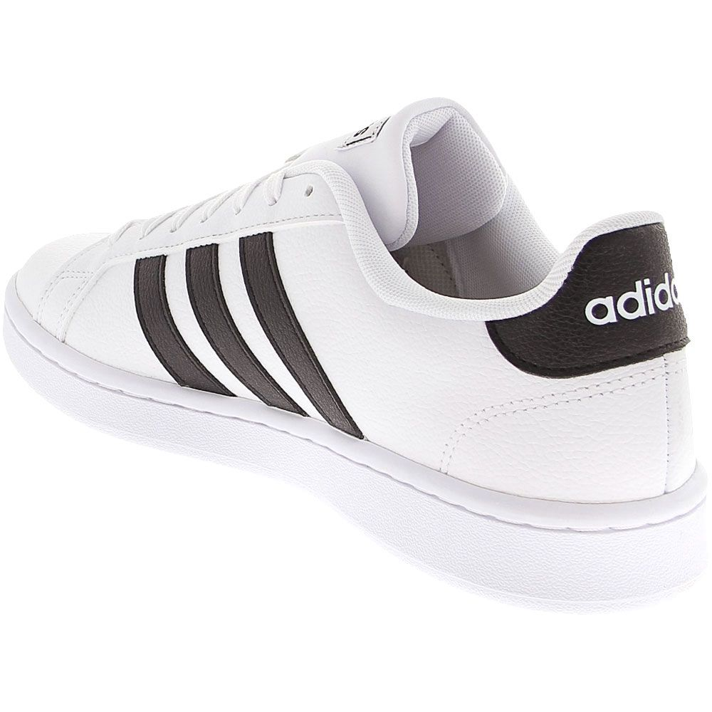 Adidas Grand Court Lifestyle Shoes - Womens White Black Back View
