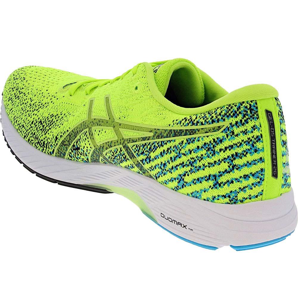 ASICS Gel Ds Trainer 26 Running Shoes - Mens Hazard Green Black Back View