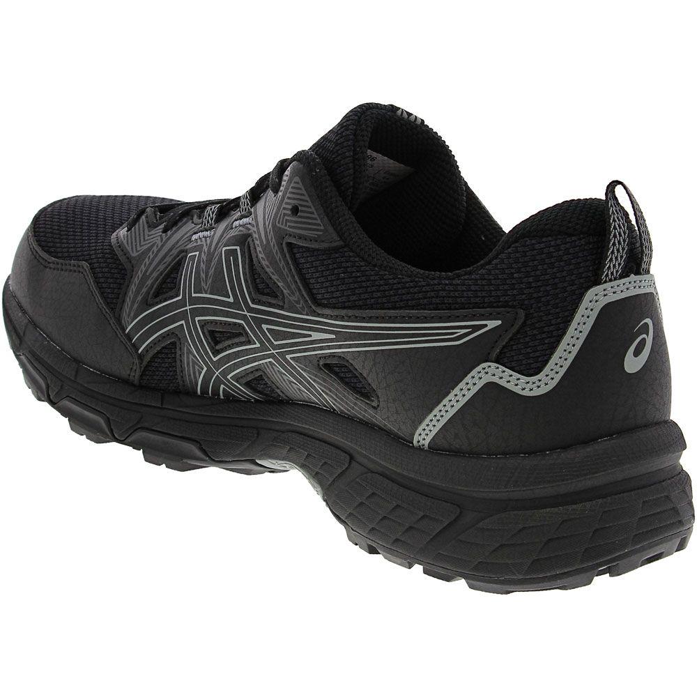 ASICS Gel Venture 8 Trail Running Shoes - Mens Black Back View