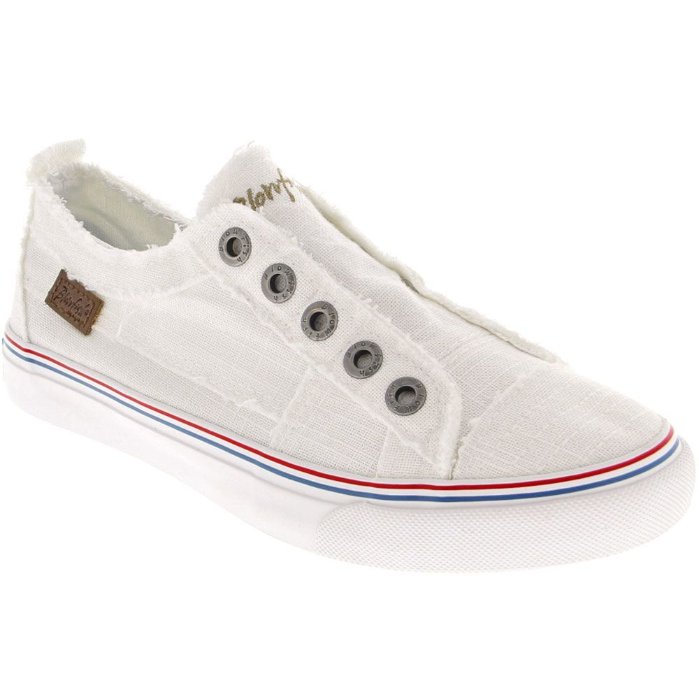 Blowfish Play Lifestyle Shoes - Womens White Color Washed