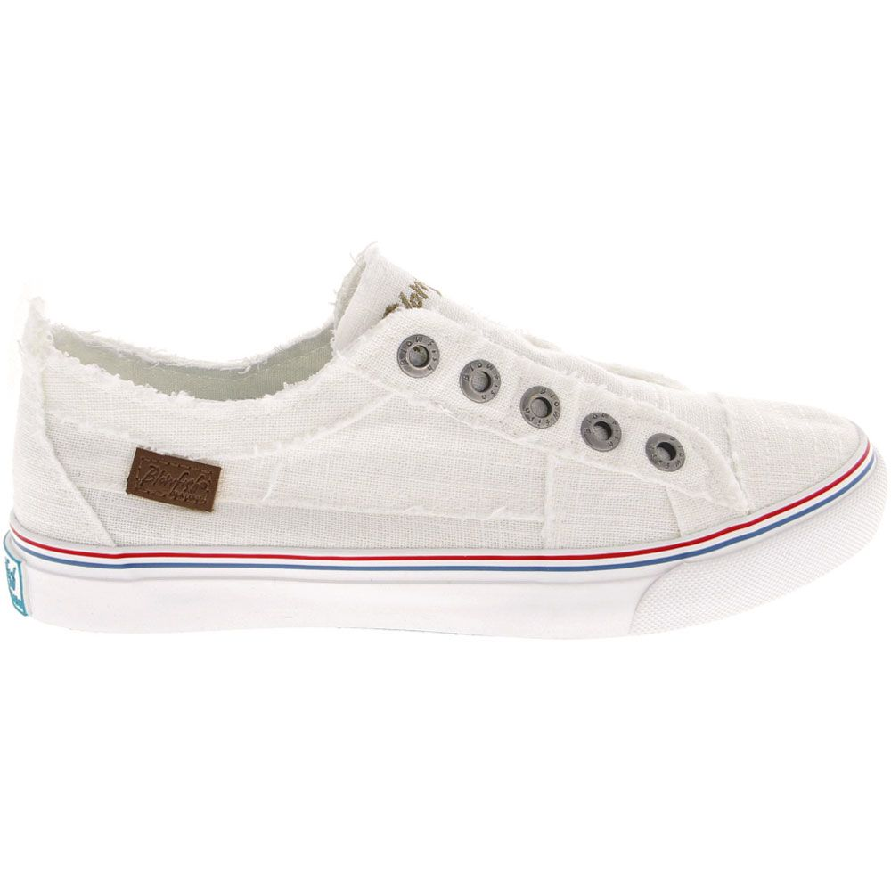 'Blowfish Play Life Style Shoes - Womens White Color Washed