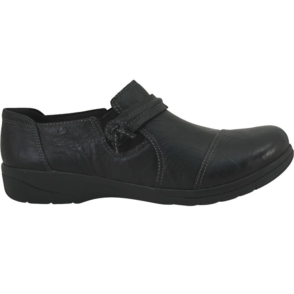 'Clarks Cheyn Madi Slip On Casual Shoes - Womens Black