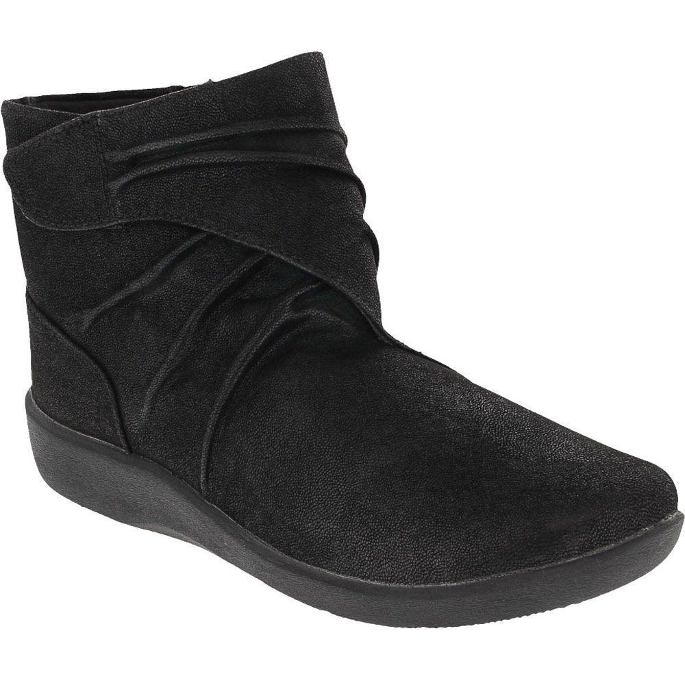 Clarks Sillian Tana Ankle Boots - Womens Black