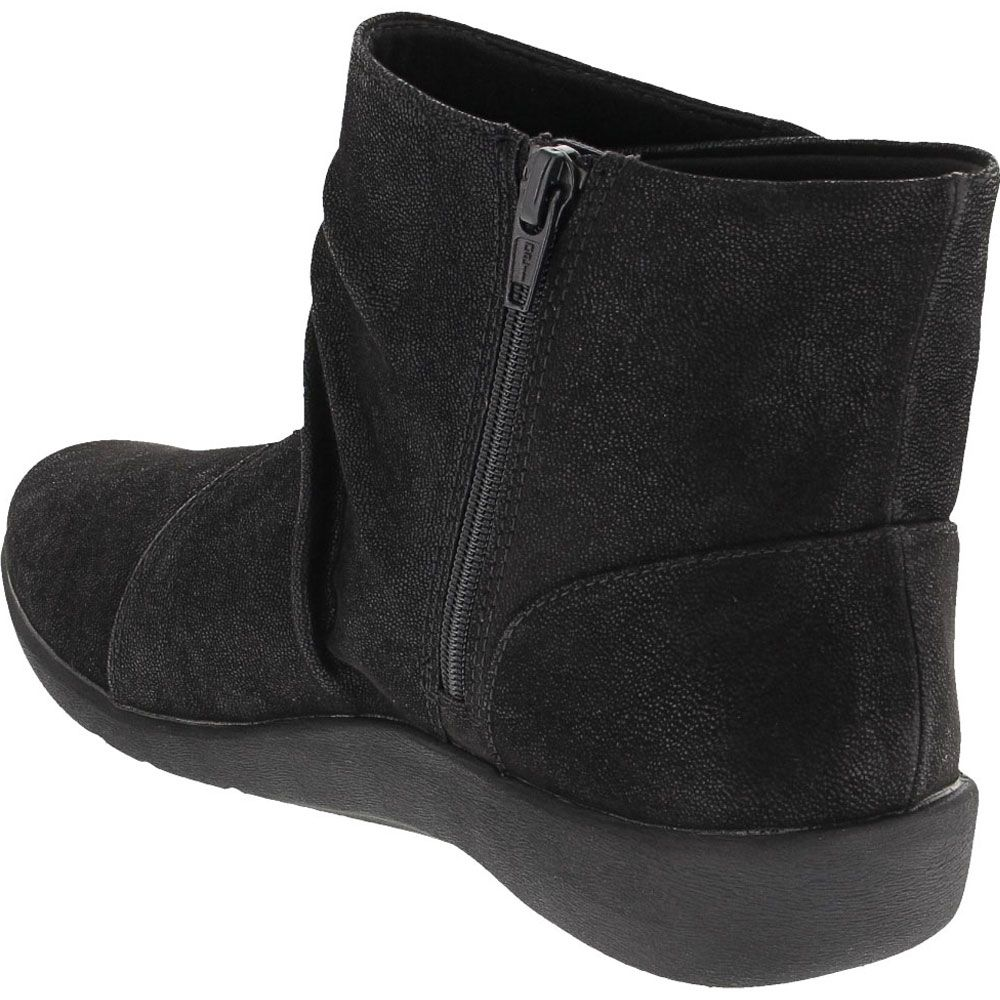 Clarks Sillian Tana Ankle Boots - Womens Black Back View