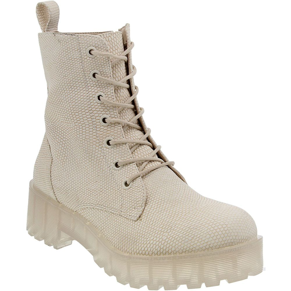 Dirty Laundry Mazzy Clear Casual Boots - Womens Natural