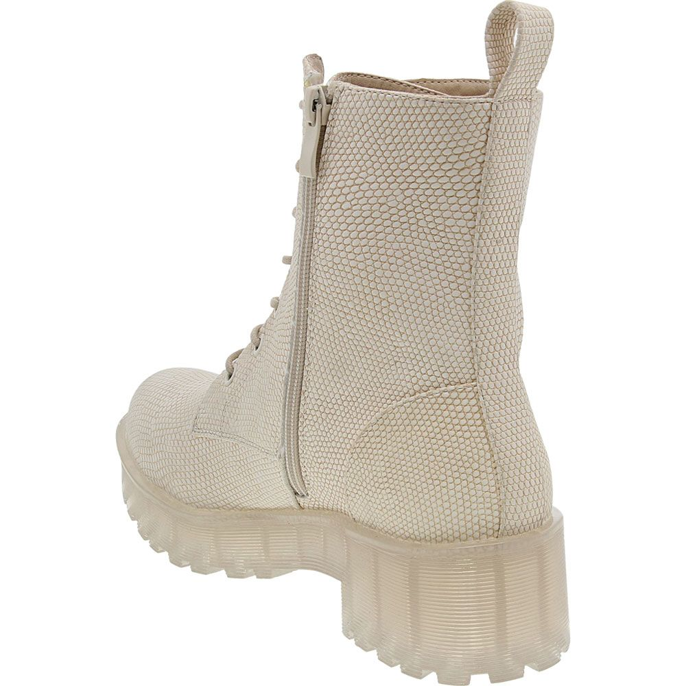 Dirty Laundry Mazzy Clear Casual Boots - Womens Natural Back View