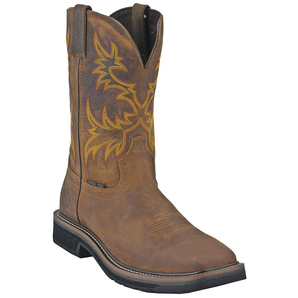 Justin Driller WK4682 Steel Toe Boots - Mens Tan