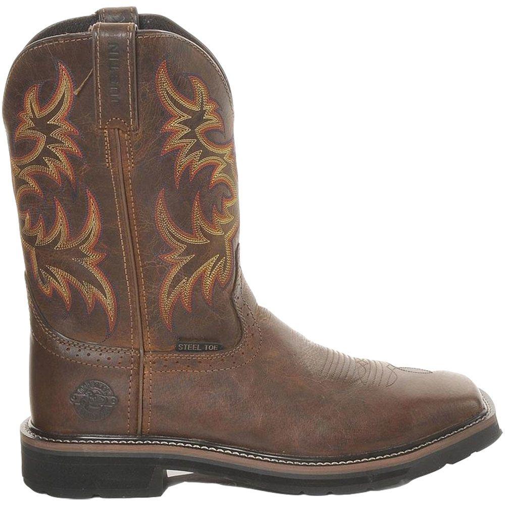 'Justin Driller WK4682 Steel Toe Boots - Mens Tan