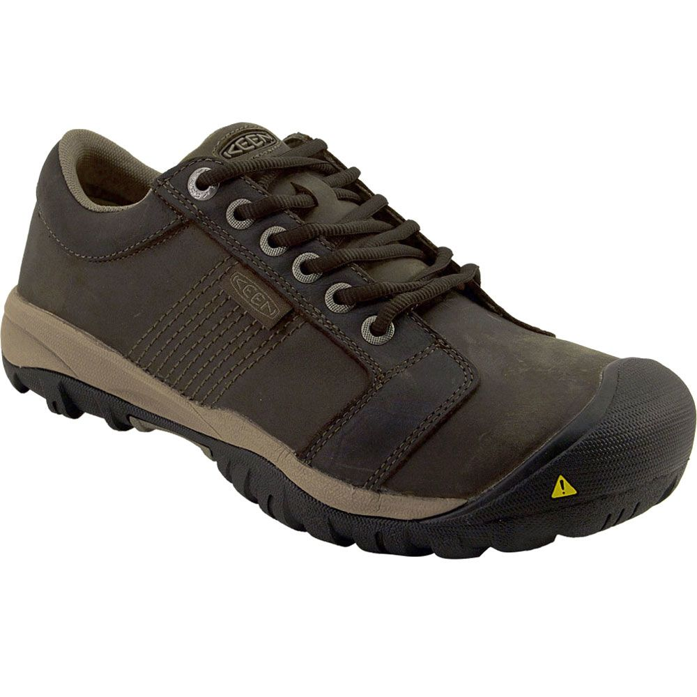 KEEN Utility La Conner Low Safety Toe Work Shoes - Mens Cascade Brown