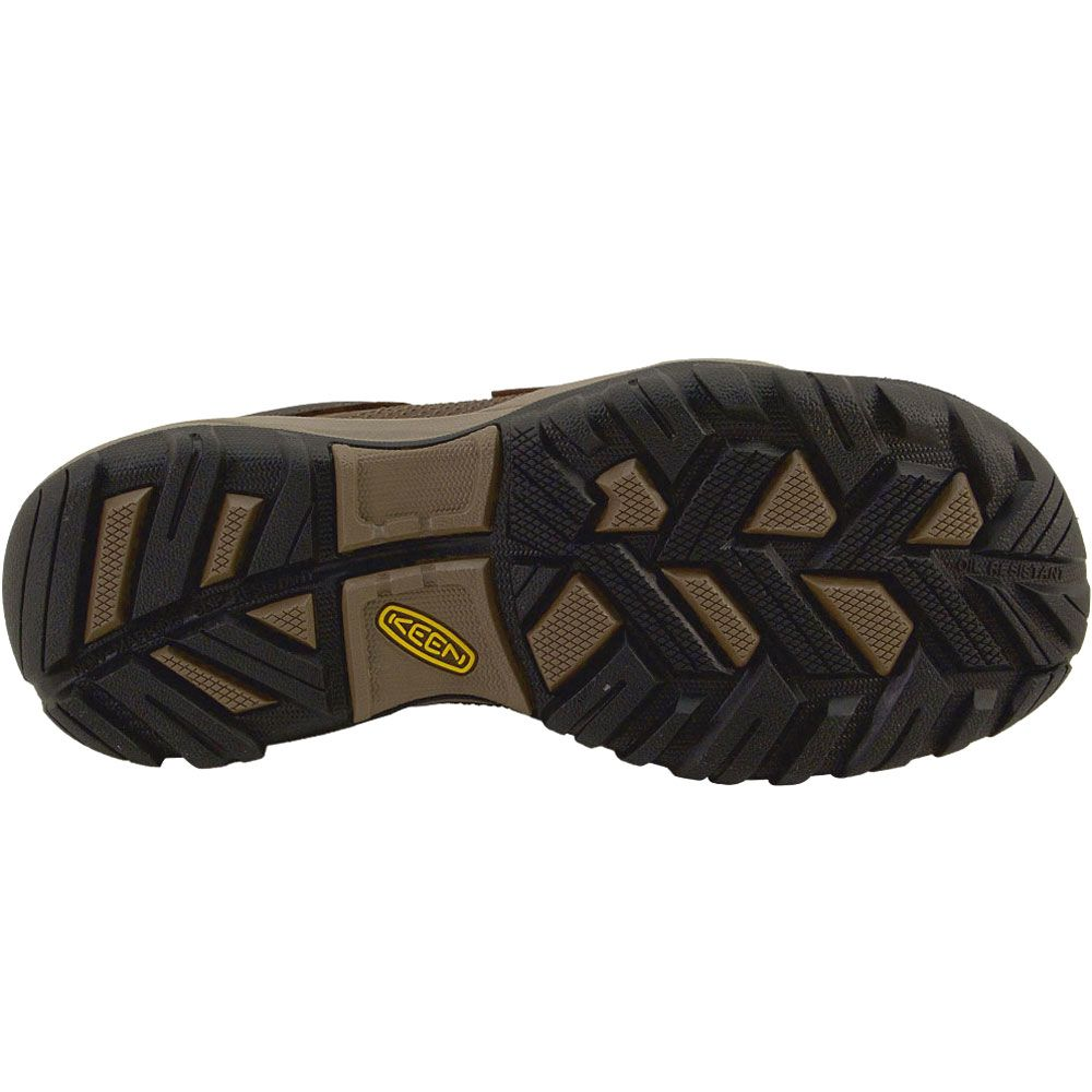 KEEN Utility La Conner Low Safety Toe Work Shoes - Mens Cascade Brown Sole View