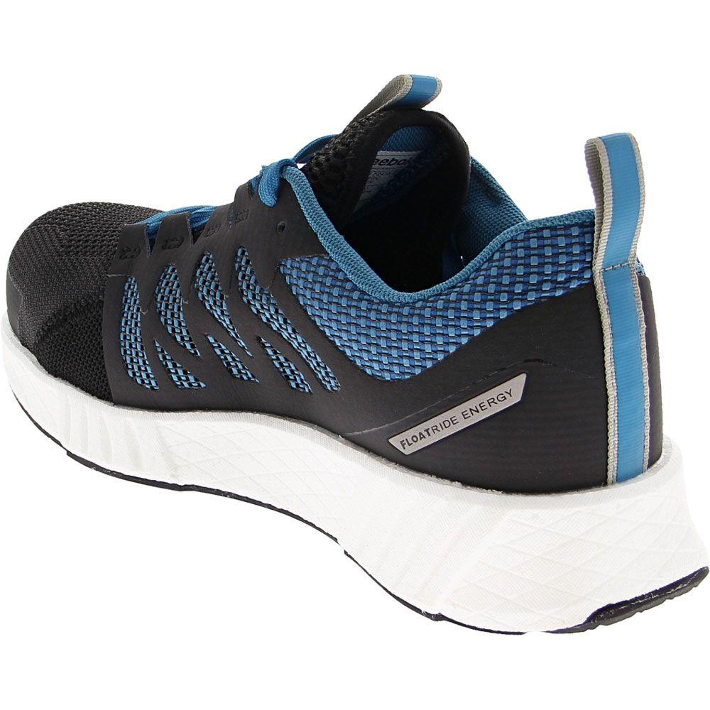 Reebok Work Fusion Flex Weave Composite Toe Shoes - Mens Blue Back View