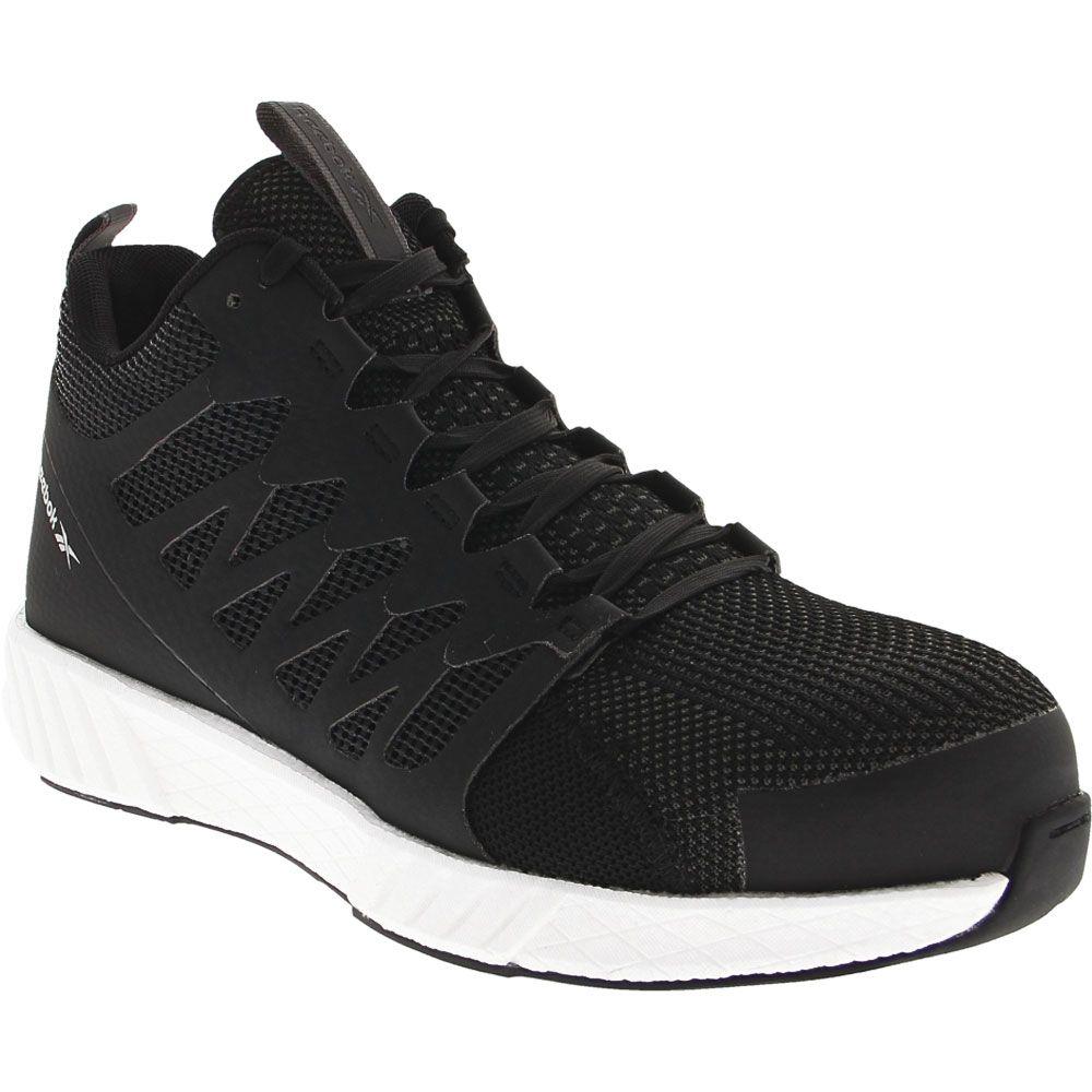 Reebok Work Fusion Flexweave Mid Composite Toe Work Shoes - Mens Black