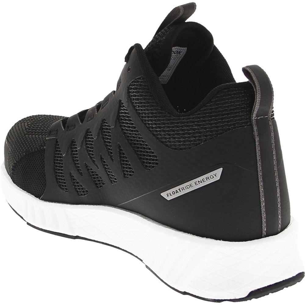 Reebok Work Fusion Flexweave Mid Composite Toe Work Shoes - Mens Black Back View