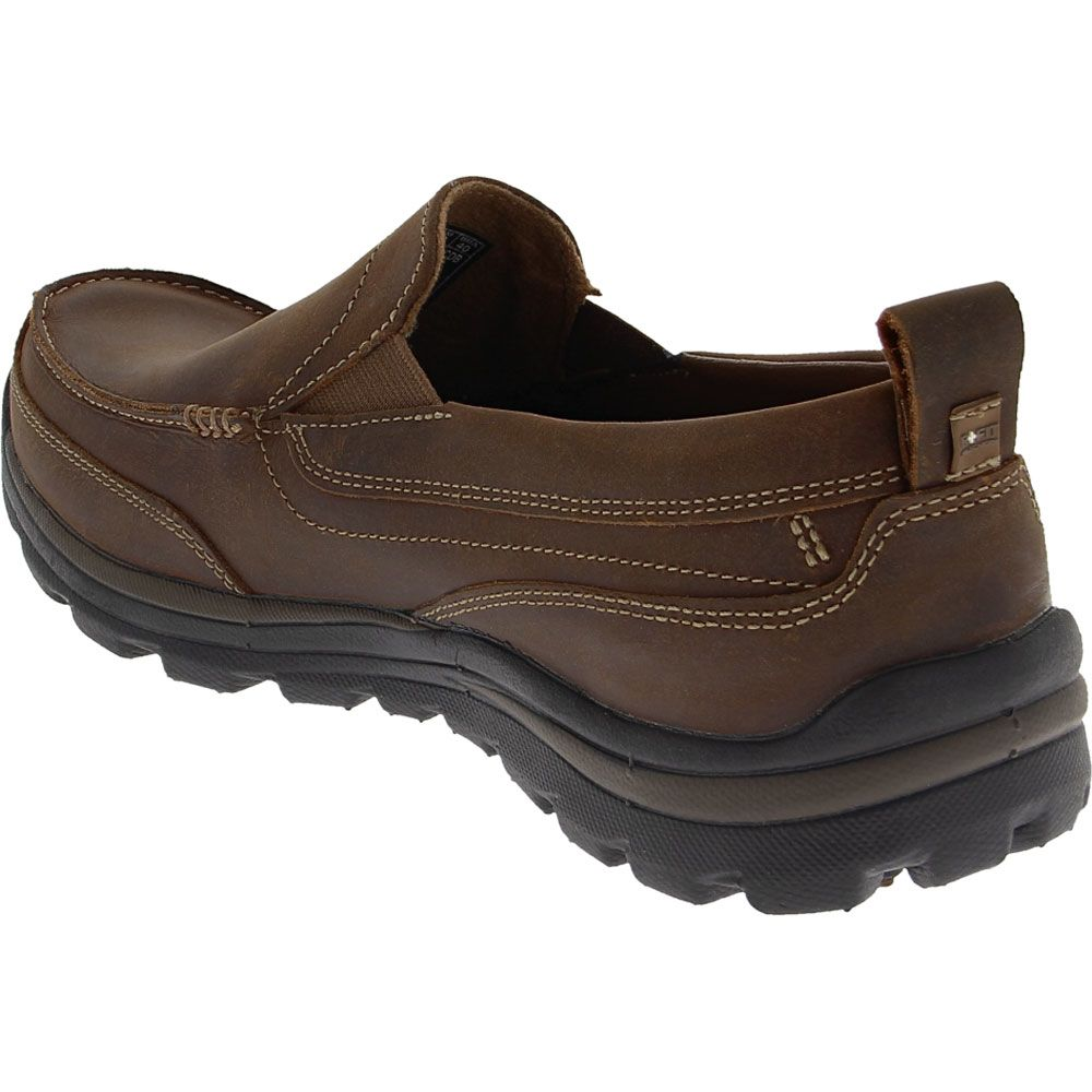 Skechers Superior - Gains Casual Shoes - Mens Dark Brown Back View