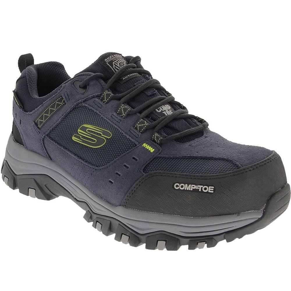 Skechers Work 77183 Composite Toe Work Shoes - Mens Navy