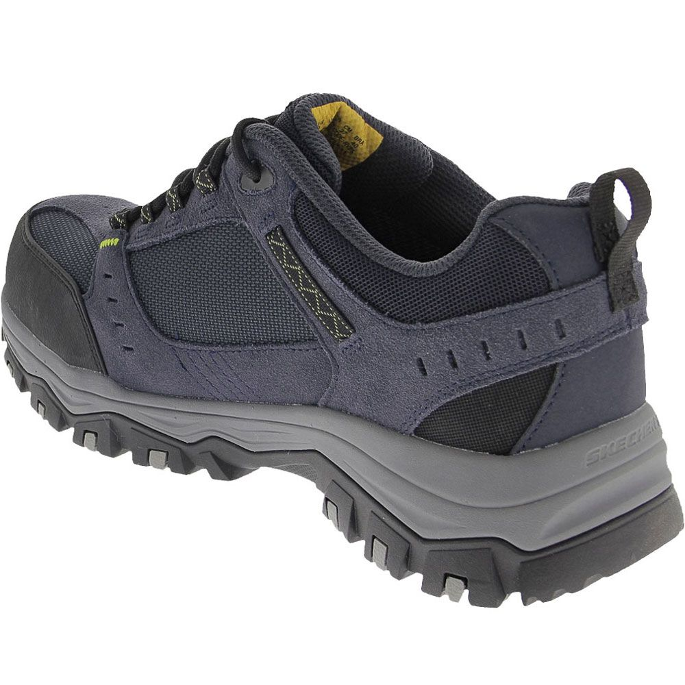 Skechers Work 77183 Composite Toe Work Shoes - Mens Navy Back View