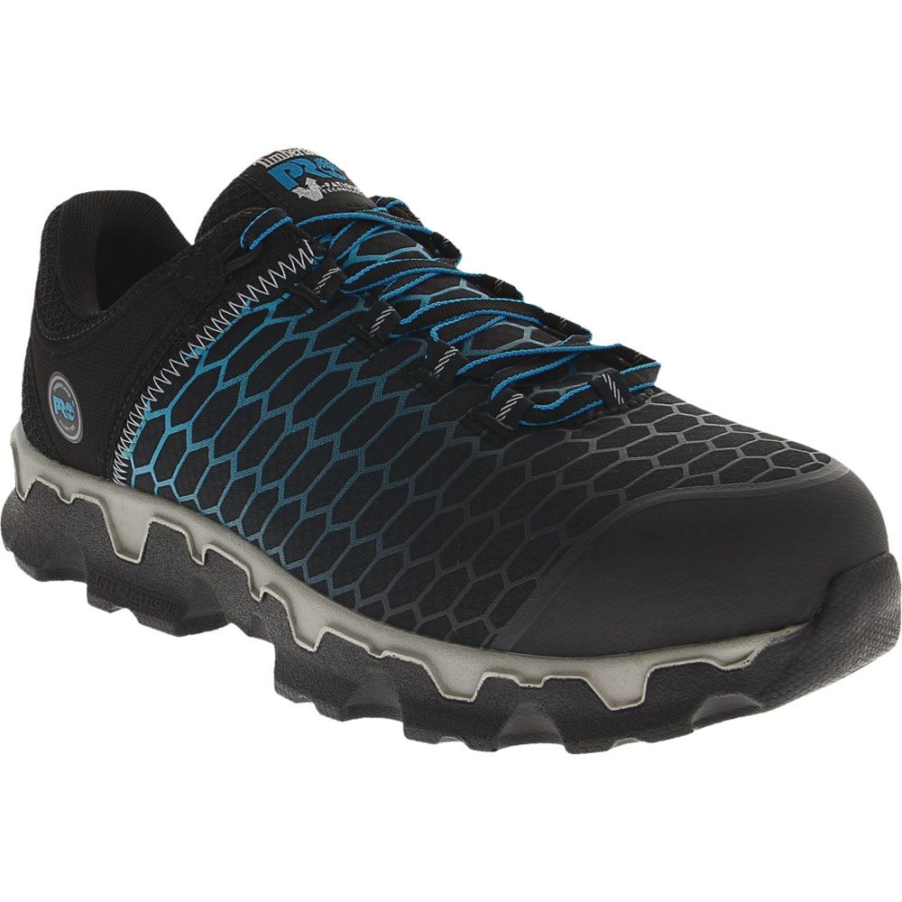 Timberland PRO Powertrain Safety Toe Work Shoes - Mens Black Blue Ripstock