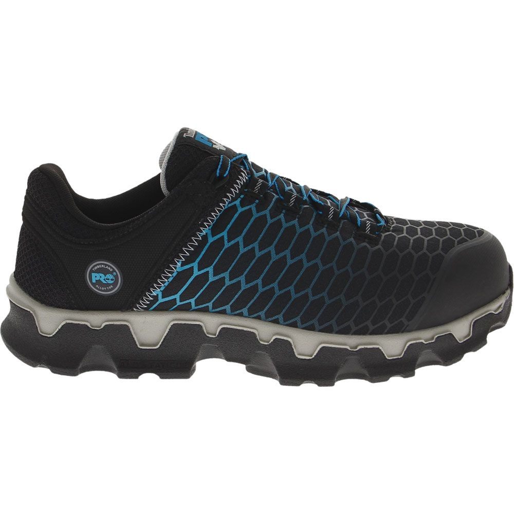 'Timberland PRO Powertrain Safety Toe Work Shoes - Mens Black Blue Ripstock