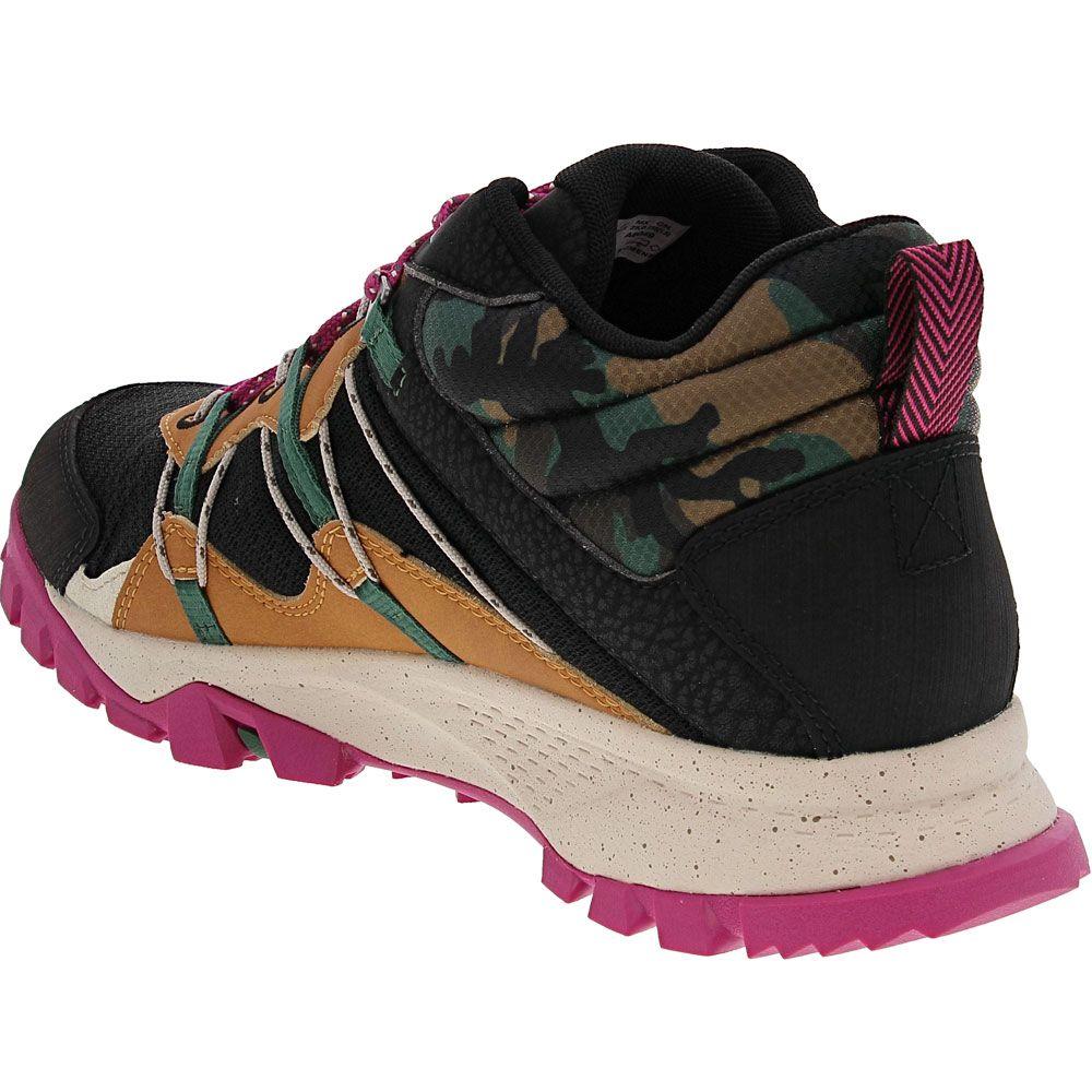 Timberland Garrison Trail Hiker Hiking Boots - Womens Black Purple Back View