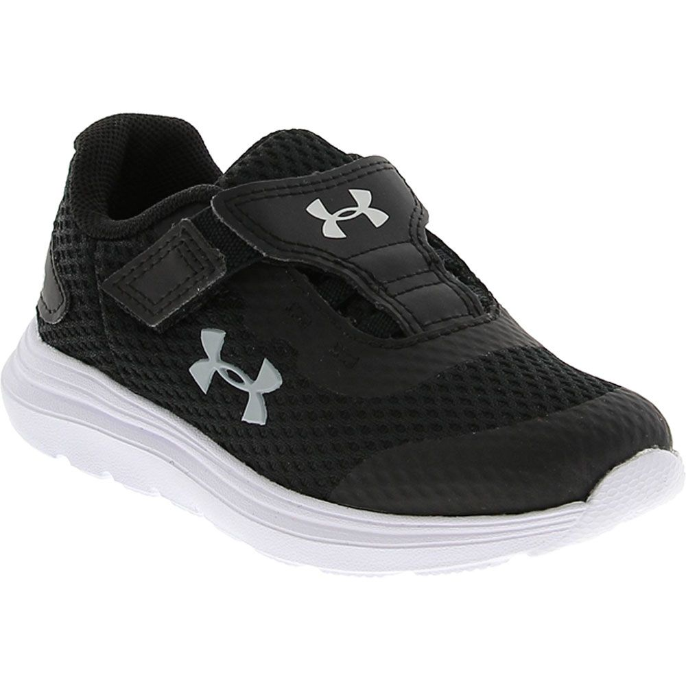 Under Armour Surge 2 Ac Rn Athletic Shoes - Baby Toddler Black White Grey