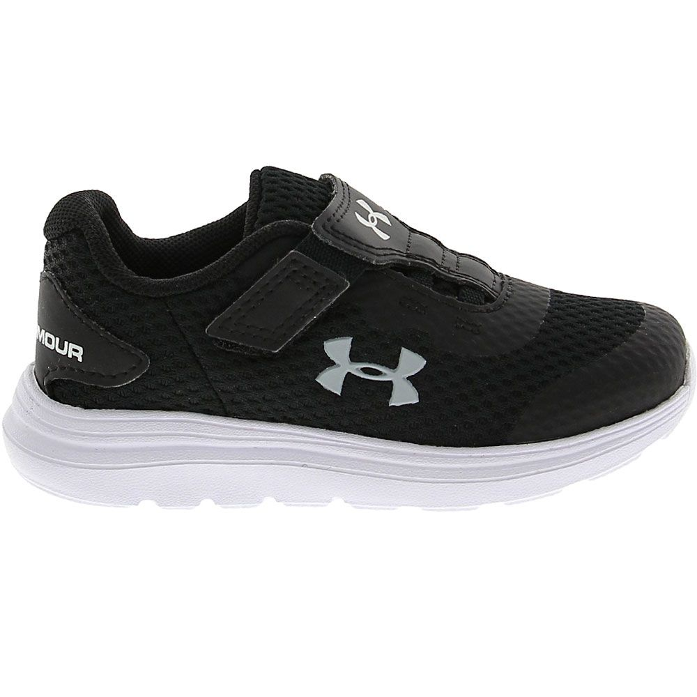 'Under Armour Surge 2 Ac Rn Athletic Shoes - Baby Toddler Black White Grey