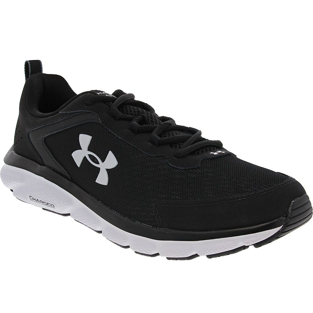 Under Armour Charged Assert 9 Running Shoes - Mens Black White