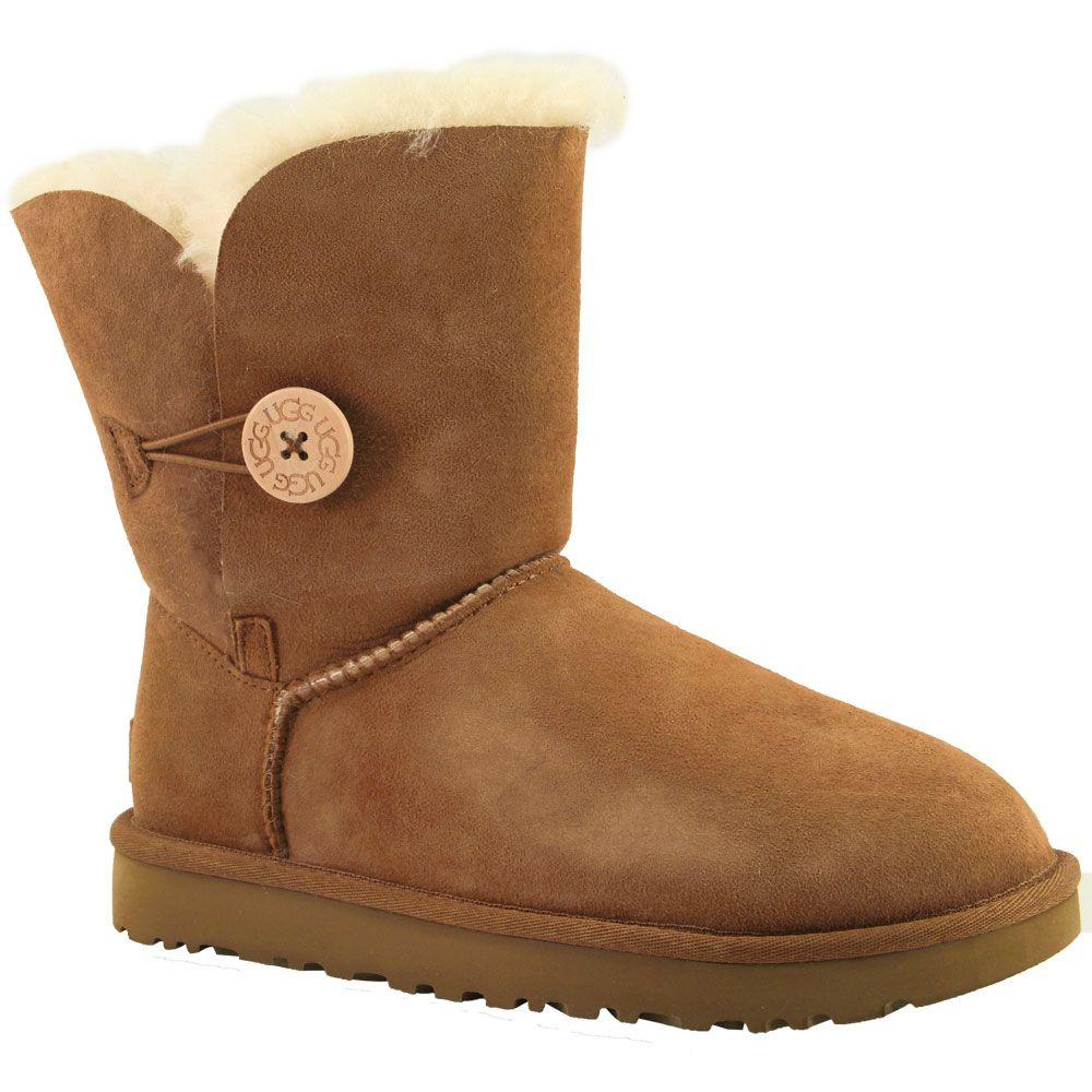 UGG Bailey Button 2 Comfort Winter Boots - Womens Chestnut