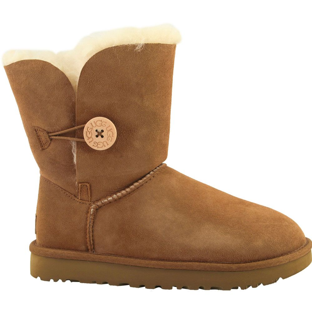'UGG Bailey Button 2 Comfort Winter Boots - Womens Chestnut