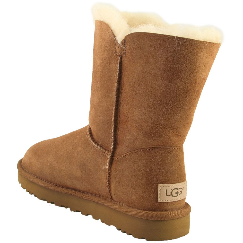 UGG Bailey Button 2 Comfort Winter Boots - Womens Chestnut Back View